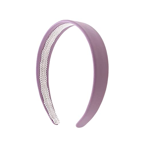 Lavender 1 Inch Wide Leather Like Headband Solid Hair band