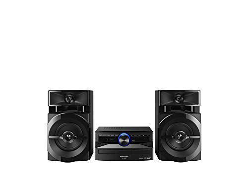 Panasonic SCUX100EK Home Audio Mini System Microcadena (Home Audio Mini System, USB, Bluetooth, Acabado Mate, Estereo, MAX JukeBox, 300 W, De 2 Vías, 13 cm, DJ, Subwoofers De 13 cm) Color Negro