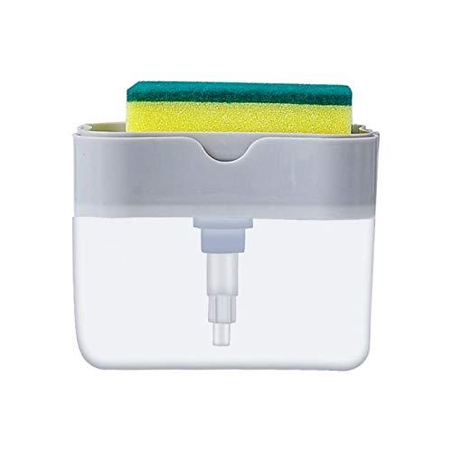 UNDKI Dispensadores de loción y de jabón Cocina líquido de Lavado Dispensador de detergente líquido de Prensa de Tipo Caja Estropajo Lavavajillas Jabón Caja Accesorios Cocina Dispensador jabon baño