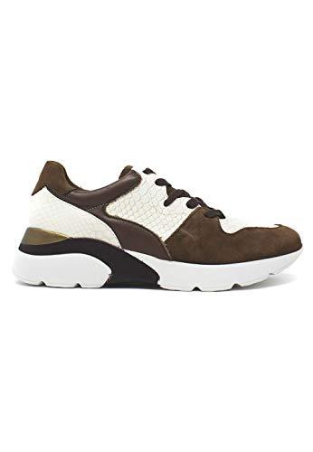 zapattu Patricia Miller - Sneakers taupe combinadas piso ancho
