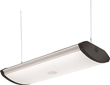 Lithonia Lighting 40K SGLL 24 80CRI 4000K PIR M4 Adjustable Indoor LED Garage Light with Integrated Motion Sensor 5000 Lumens 120 Volts 80 Watts Damp Listed Silver