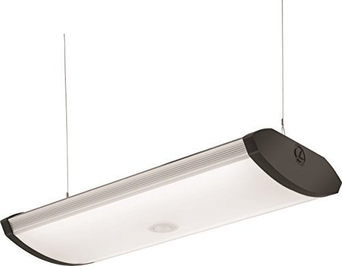 Lithonia Lighting 40K SGLL 24 80CRI 4000K PIR M4 Adjustable Indoor LED Garage Light with Integrated Motion Sensor, 5000 Lumens, 120 Volts, 80 Watts, Damp Listed, Silver