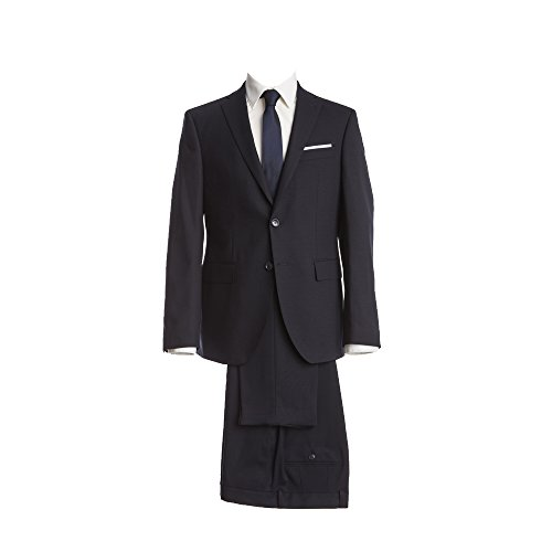 Barutti Anzug Dunkelblau Uni Tailored Fit taillierter Schnitt Performance Sakko Tarso P AMF Hose Tosco Mischgewebe wasserabweisend 64