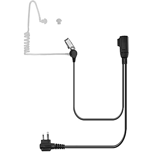 Auriculares de tubo acústico de 2 pines con micrófono PTT para Motorola CLS1410 CLS1110 CP200 GP300 GP2000 T600 T100 T800 Walkie Talkie 2 vías radio (1 unidad)