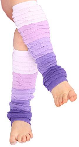 Huggalugs Girls Violet Ombre Legruffle Legwarmers