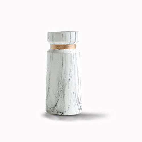 Afairy Dekorative Vase Aus Keramik Vasen Marmor Textur Goldener Details Dekorative Vase for Hochzeit Oder Wohnzimmer (Color : White)