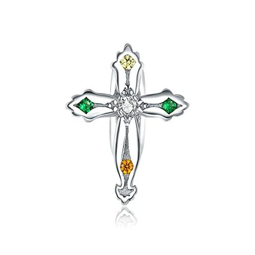 LIJIAN DIY 925 Sterling Jewelry Charm Beads Cruz De Acción De Gracias Hacer Original Pandora Collares Pulseras Y Tobilleras Regalos para Mujeres