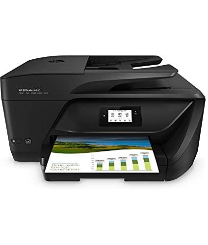 HP OfficeJet 6950 (P4C85A) Stampante Multifunzione a Getto di Inchiostro, Stampa, Scansiona, Fotocopia, Fax, Wifi, A4, HP Smart, 6 Mesi di Instant Ink Inclusi nel Prezzo, Nero