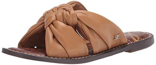 Sam Edelman Women's Garson Flat Sandal, Camel, 8.5