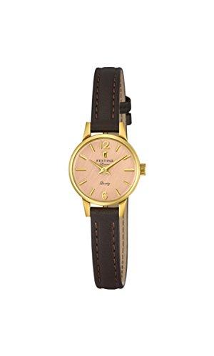 Festina Damen Analog Quarz Uhr mit Leder Armband F20261/2