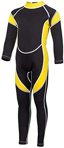 Moda Traje para niños Traje de buceo infantil Invierno frío Cálido Snorkeling Ropa de una pieza Ropa de protección solar para bucear JXLBB (Color : A, Size : 10)
