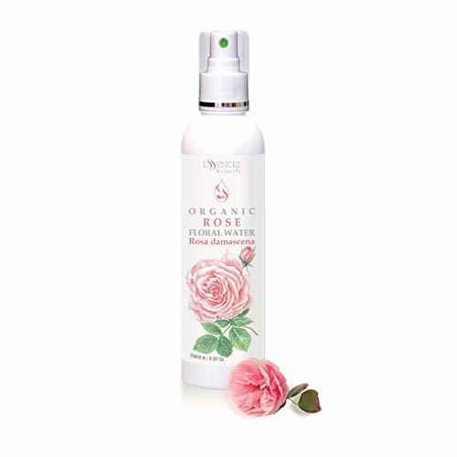 BIO-Rosenwasser (Rosa damscena) 100% naturrein Rosen-Blütenwasser, Spitzenqualität aus dem eigenen Familienbetrieb, Spray als Gesichtswasser, Haarwasser, Rasierwasser (250ml)