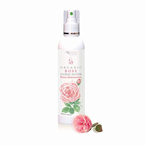 Organic Rose Floral Water (Rosa damscena) (250ml) 100% Natural, from Family Owned Farm, Spray for face, Body, Hair