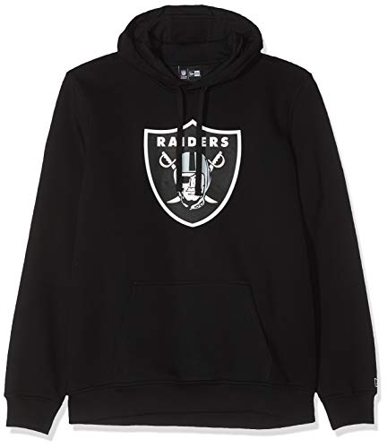 New Era Team Logo Hoody Oakland Raiders - Sweat-Shirt À Capuche - Chemise - Manches Longues - Homme, Black, XS