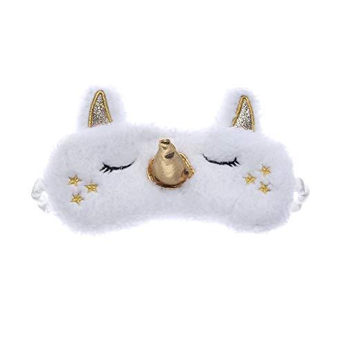 Cute Unicorn Schlafaugenmaske Cartoon Augenbinde Lidschatten Soft Cover für Mädchen Kind Teen...