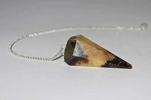 Nature's Enlightenment Septarian Crystal Faceted Pendulum