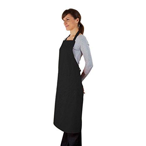 Cucina Sana Küchenschürze - Grillschürze für Männer und Frauen, Schürze mit verstellbarem Nackenband und 2 Taschen (schwarz)