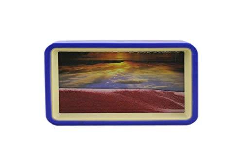 Jszzz Flüssigkeit in Bewegung Doppelfarben-Feld bewegt Sand Bild Sandscape mit Sonnenaufgang...