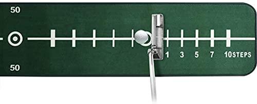 Alfombrilla de Golf,Alfombra Golf Golf Putting Mat Training Mat Golf Putting Prett Prett Set, Ayuda de entrenamiento Poner la estera con la línea de la regla, Sistema de devolución de la pelota de gol