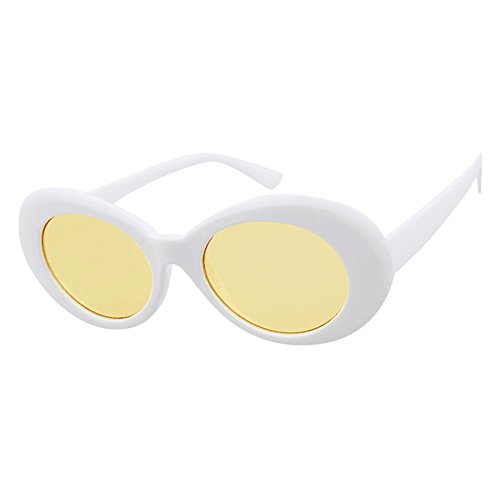 MERICAL Retro Occhiali da sole Vintage Rapper ovali protegge i vetri Grunge