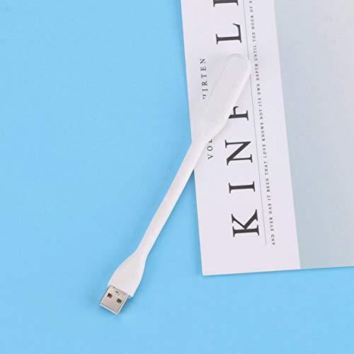 KoelrMsd Ventilador USB Creativo Mini Ventilador portátil Flexible y lámpara de luz LED USB para Ordenador portátil con Banco de energía Gadget de Verano