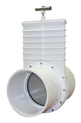 "Valterra 6801 PVC Gate Valve, White, 8"" Slip from Valterra Products"