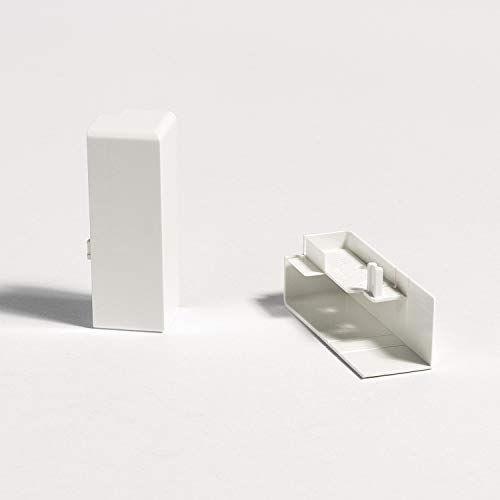 Parador Außenecken höhenvariabel für Sockelleisten - weiß - Typ SL 3/5/6/18 - Doppelpack