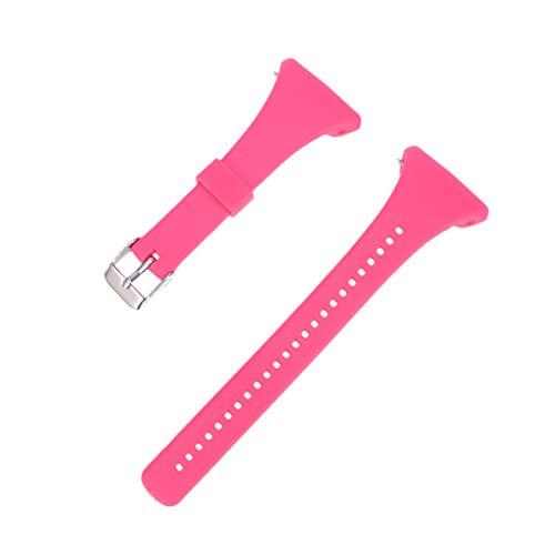 NICERIO Correa de Reloj Compatible con Polar FT4 / FT7, Correa de Repuesto de Correa de Reloj de plástico con Correa de muñeca de liberación rápida para Hombres y Mujeres(Rosa)