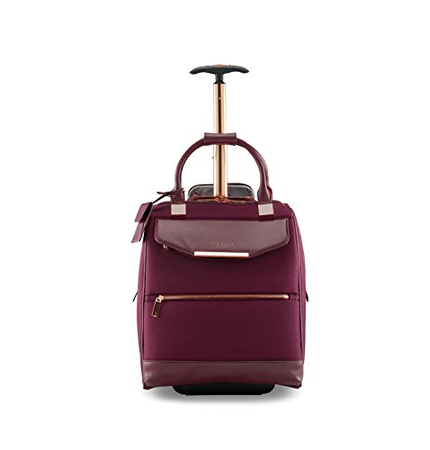 Ted Baker Women's Albany Softside Luggage, Suitcase Collection (Burgundy, Business Case)
