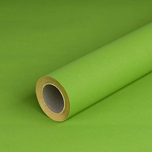 Geschenkpapier GRÜN, glatt, 80 g/m², grünes Geburtstagspapier, Weihnachtspapier - 1 Rolle 0,7 x 10 m