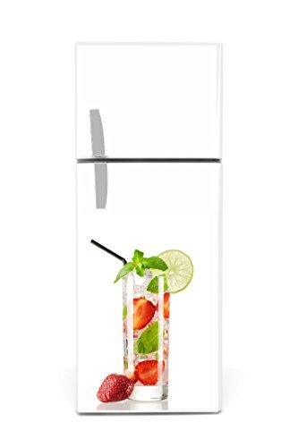 koelkaststicker 60 x 90 cm longdrink aardbeien