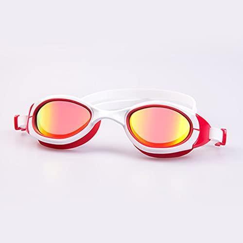 kerryshop Gafas de natación Gafas de natación Mujeres Impermeable Anti-Niebla HD Luz Plana Profesional Entrenamiento Capitativo Myopia Myopia Gafas de natación (Color : D)