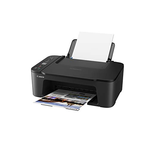 Canon PIXMA TS3450 - Stampante multifunzione DIN A4 (scanner, fotocopiatrice, stampante, 4800 x 1200 DPI, LCD, WLAN, USB, Apple AirPrint, PIXMA Cloud Link, stampa fronte), nero