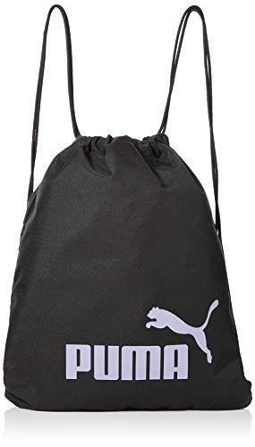 Puma Phase Gym Sack Bolsa De Cuerdas, Puma Black-Sweet Lavender, OSFA