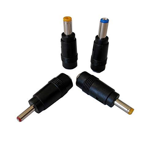 Liwinting Conector de Barril de Fuente de alimentación Universal con Enchufe de CC, Juego de Enchufe de CC, Enchufe de 5,5 mm x 2,1 mm a 5,5mm x 2,5mm, 4,0mm x 1,7mm, 3,5mm x 1,35mm, 5,5mm x 2,1mm
