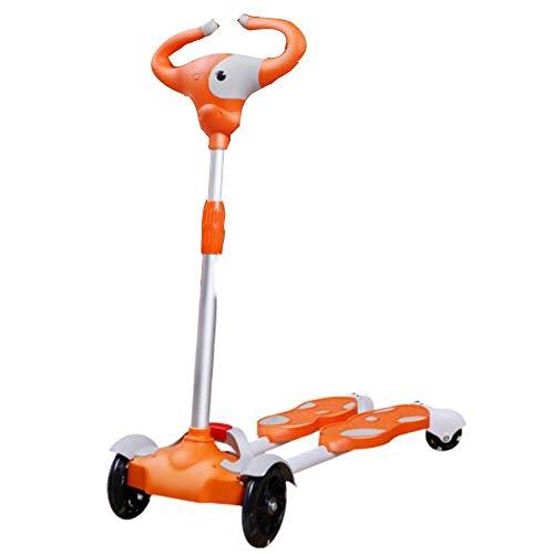 YUMEIGE Kickscooter Tretroller Dritte Ganghöhe: 80 cm / 75 cm / 70 cm, Kinder Roller für Kinder von 2 bis 10 Jahren, Freestyle Scooter mit 150 kg Kinderspielzeug im Freien Verfügbar (Color : Orange)