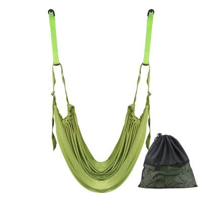 GYMO Cinturón Elástico De Yoga, Cinturón Elástico De Hamaca, Artefacto De Flexión, Cuerda Invertida Doméstica para Ballet, Gimnasia, Ejercicio,Verde