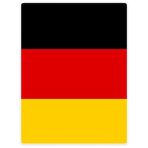 Mesllings Dik Zacht Warm Gezellige Flanellen Fleece Sofa Dekbedovertrek Duitse Vlag Rood Geel Zwart, Flannelet, Rot Gelb Schwarz, 100 x 125cm