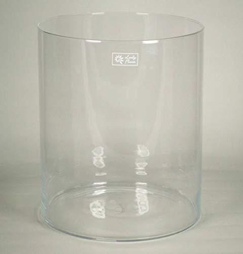 INNA-Glas Windlicht Titus, Zylinder - rund, klar, 35cm, Ø 30cm - Kerzenglas - Zylinder Vase