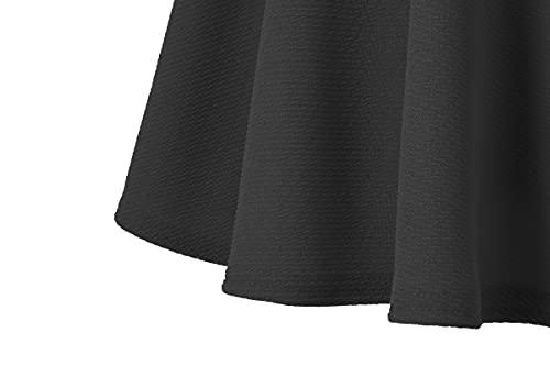 urban GoCo Falda Mujer Elástica Plisada Básica Patinador Multifuncional Corto Falda (XL, Negro)