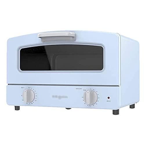 UOOD Horno eléctrico Mini Mini Mini Horno PEQUEÑO 12L Control de Temperatura Horneado Hornear Horneado Alta Poder Horno (Color : Blue)