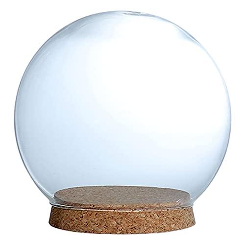 B Blesiya Bola de cristal transparente decorativa para terrarios suculentos, decoración de plantas aéreas, jarrones, bodas, decoración de mesa, 15 cm