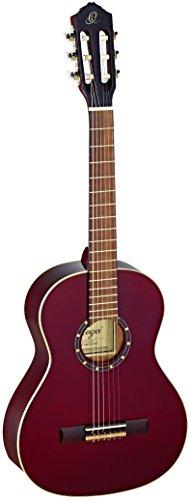 Ortega Guitars R121-3/4WR Konzertgitarre in 3/4 Größe weinrot im hochglänzenden Finish mit hochwertigem Gigbag