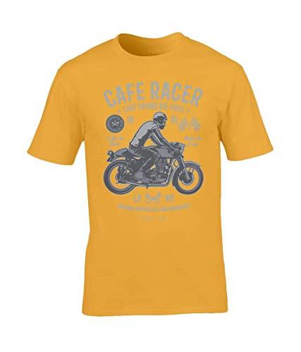 Cafe Racer v3 – Gildan Premium Cotton T-Shirt Gold X-Large