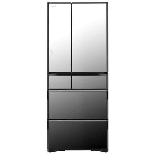 日立 615L 6ドア冷蔵庫(クリスタルミラー)HITACHI WXシリーズ R-WX62K-X