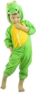 زي هالوين للاطفال بقصة جمبسوت بتصميم تمساح (مقاس L) - لون اخضر من جولف ديلز