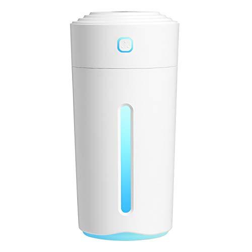 SDCNDAND Mini humidificador de automóviles USB, Luces de Colores portátiles de ión Negativo del columnar, Spray de purificación de Aire, para Dormitorio en el hogar Junto a la Cama,Blanco
