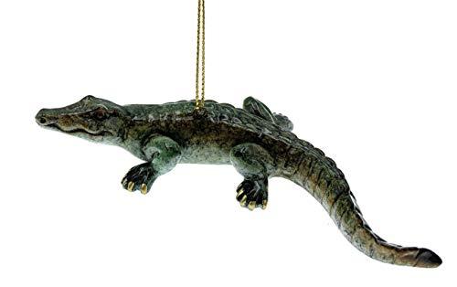Globe Imports Alligator Christmas Ornament, 5 Inches Long