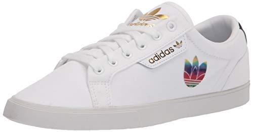 adidas Originals Zapatillas bajas elegantes para mujer, blanco (blanco/negro/dorado metálico), 42 EU
