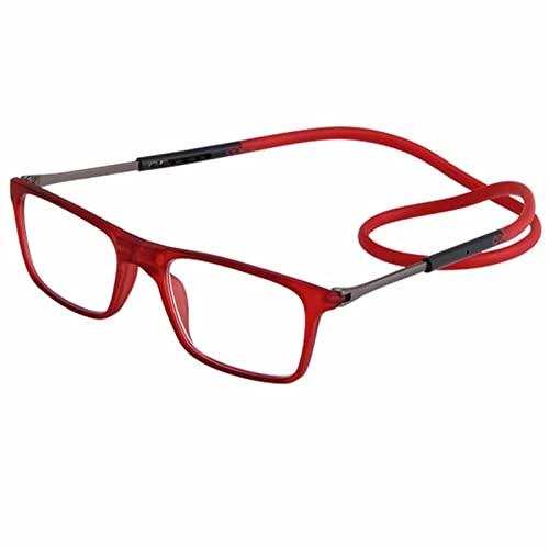 YSDQ Gafas de Lectura Magnticas Unisexo Plegables y Ajustables con Cuello Lector de conexin Frontal Ajustable Colgante Presbicia